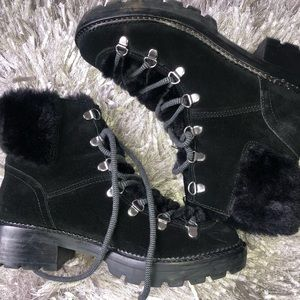 MARC Fisher hiking boots with fur